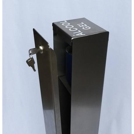 Dispensador de álcool gel com pedal em INOX