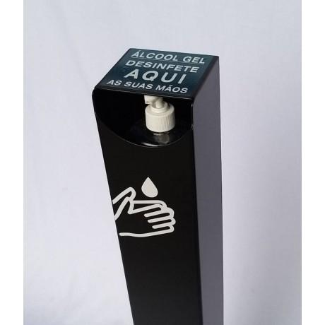 Dispensador de álcool gel com pedal em Aço