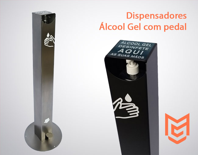 Dispensadores Álcool Gel